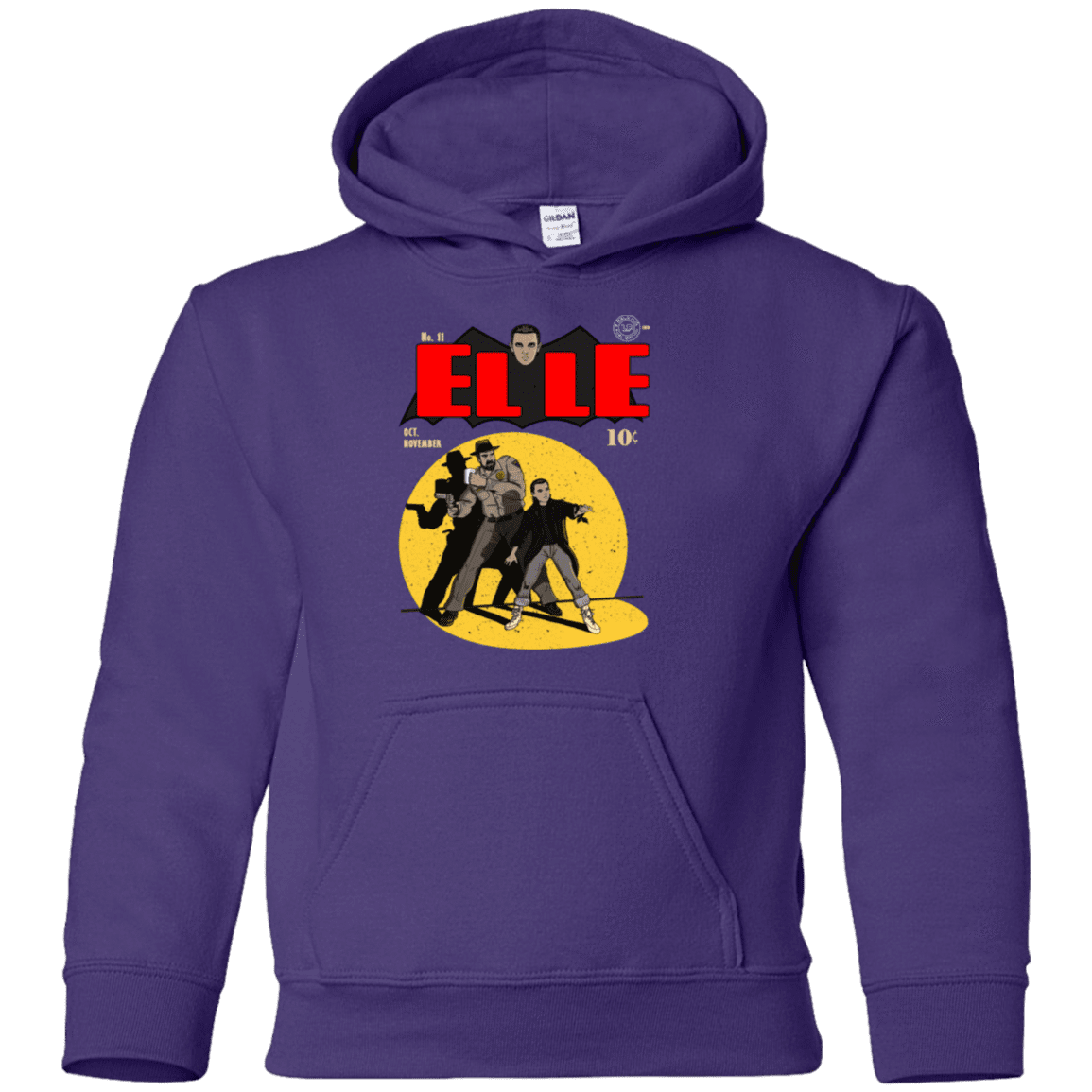Sweatshirts Purple / YS Elle N11 Youth Hoodie