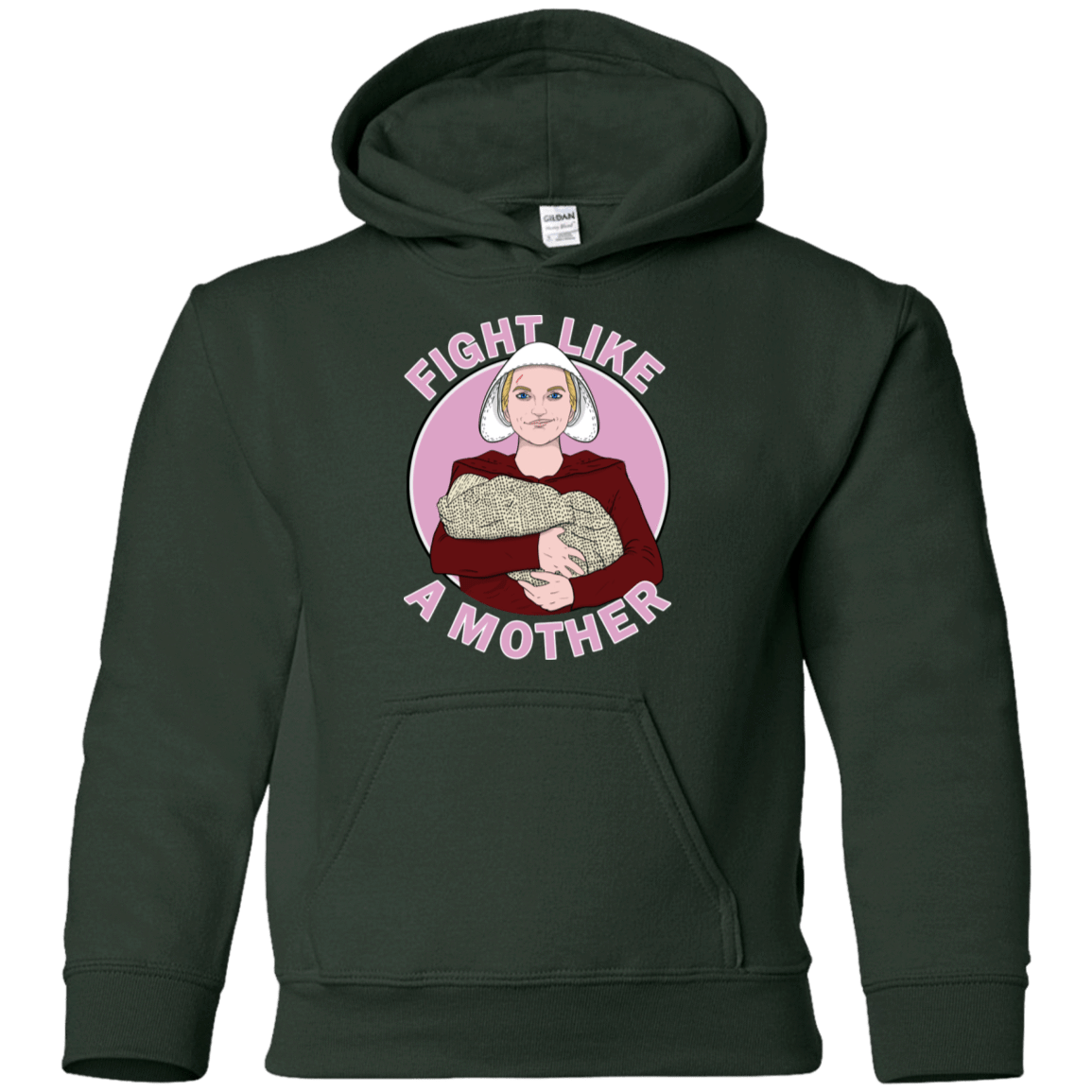 Sweatshirts Forest Green / YS Fight Like a Mother Youth Hoodie