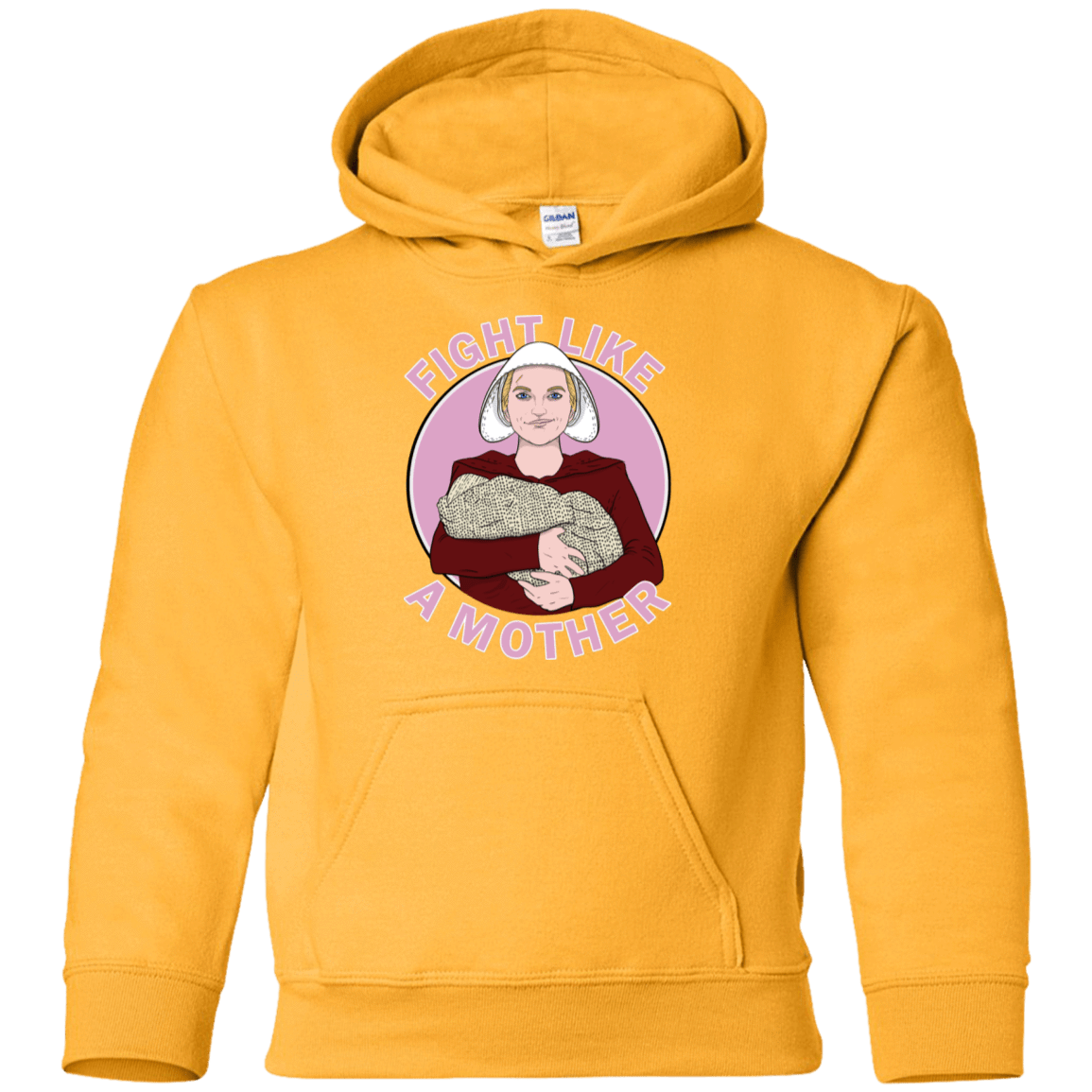 Sweatshirts Gold / YS Fight Like a Mother Youth Hoodie