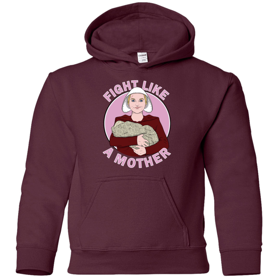 Sweatshirts Maroon / YS Fight Like a Mother Youth Hoodie