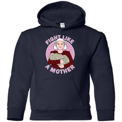 Sweatshirts Navy / YS Fight Like a Mother Youth Hoodie