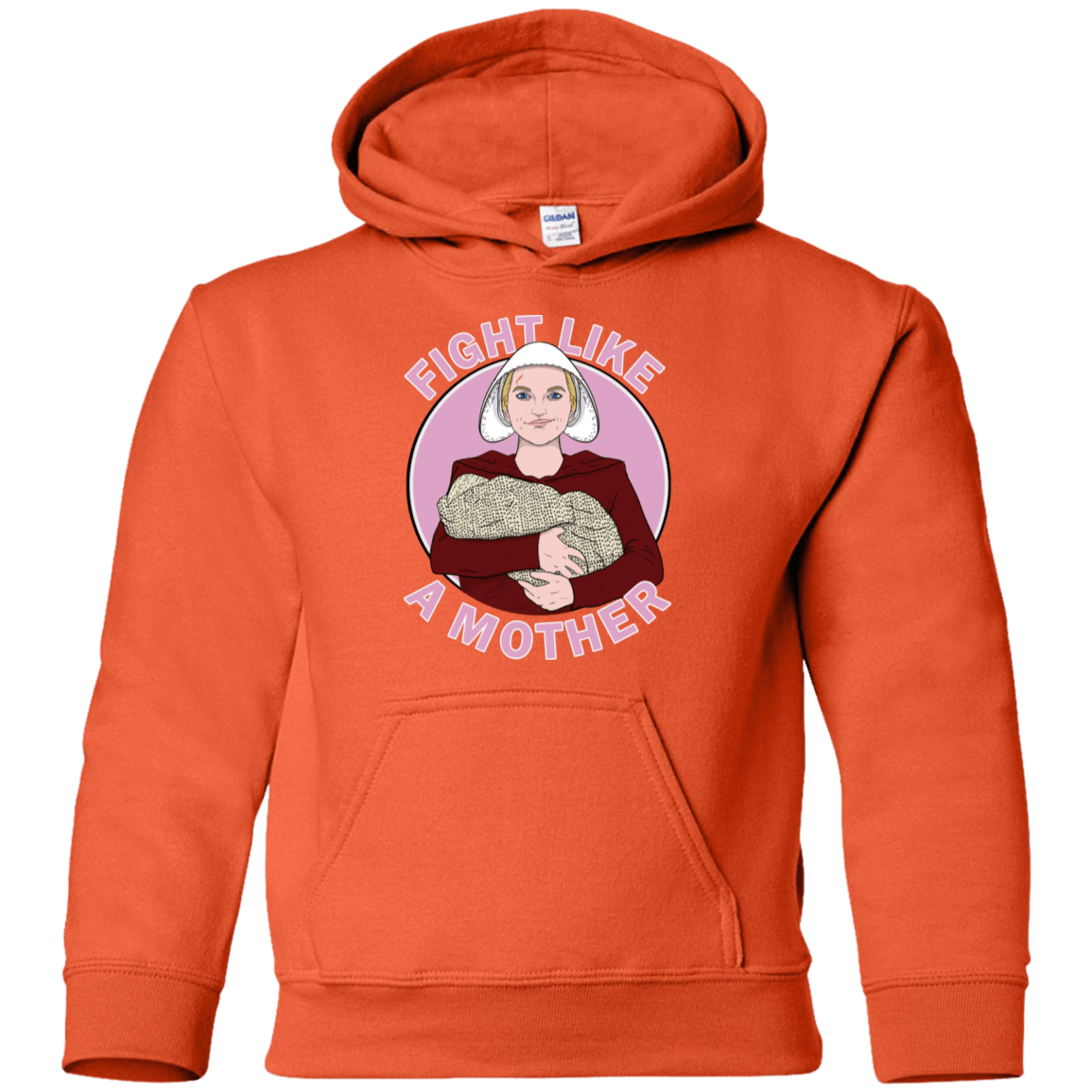 Sweatshirts Orange / YS Fight Like a Mother Youth Hoodie