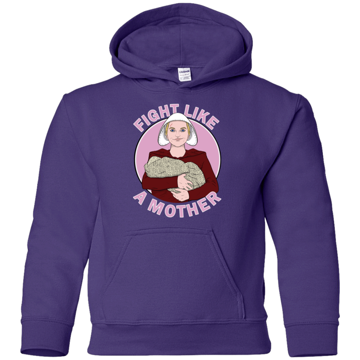 Sweatshirts Purple / YS Fight Like a Mother Youth Hoodie