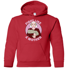 Sweatshirts Red / YS Fight Like a Mother Youth Hoodie