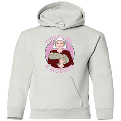 Sweatshirts White / YS Fight Like a Mother Youth Hoodie