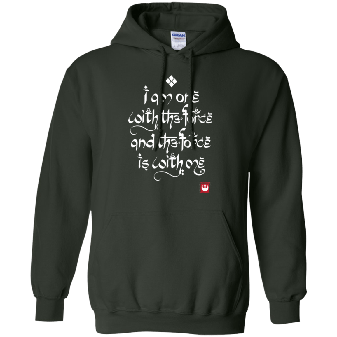 Sweatshirts Forest Green / Small Force Mantra White Pullover Hoodie