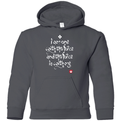 Sweatshirts Charcoal / YS Force Mantra White Youth Hoodie