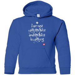 Sweatshirts Royal / YS Force Mantra White Youth Hoodie