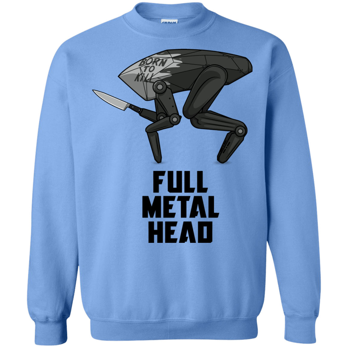 Sweatshirts Carolina Blue / S Full Metal Head Crewneck Sweatshirt