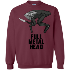Sweatshirts Maroon / S Full Metal Head Crewneck Sweatshirt