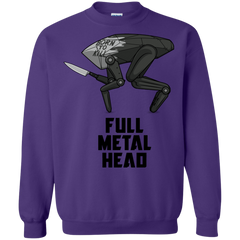 Sweatshirts Purple / S Full Metal Head Crewneck Sweatshirt