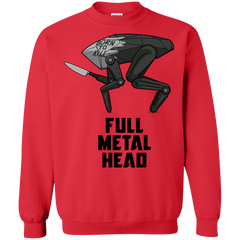 Sweatshirts Red / S Full Metal Head Crewneck Sweatshirt