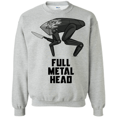 Sweatshirts Sport Grey / S Full Metal Head Crewneck Sweatshirt
