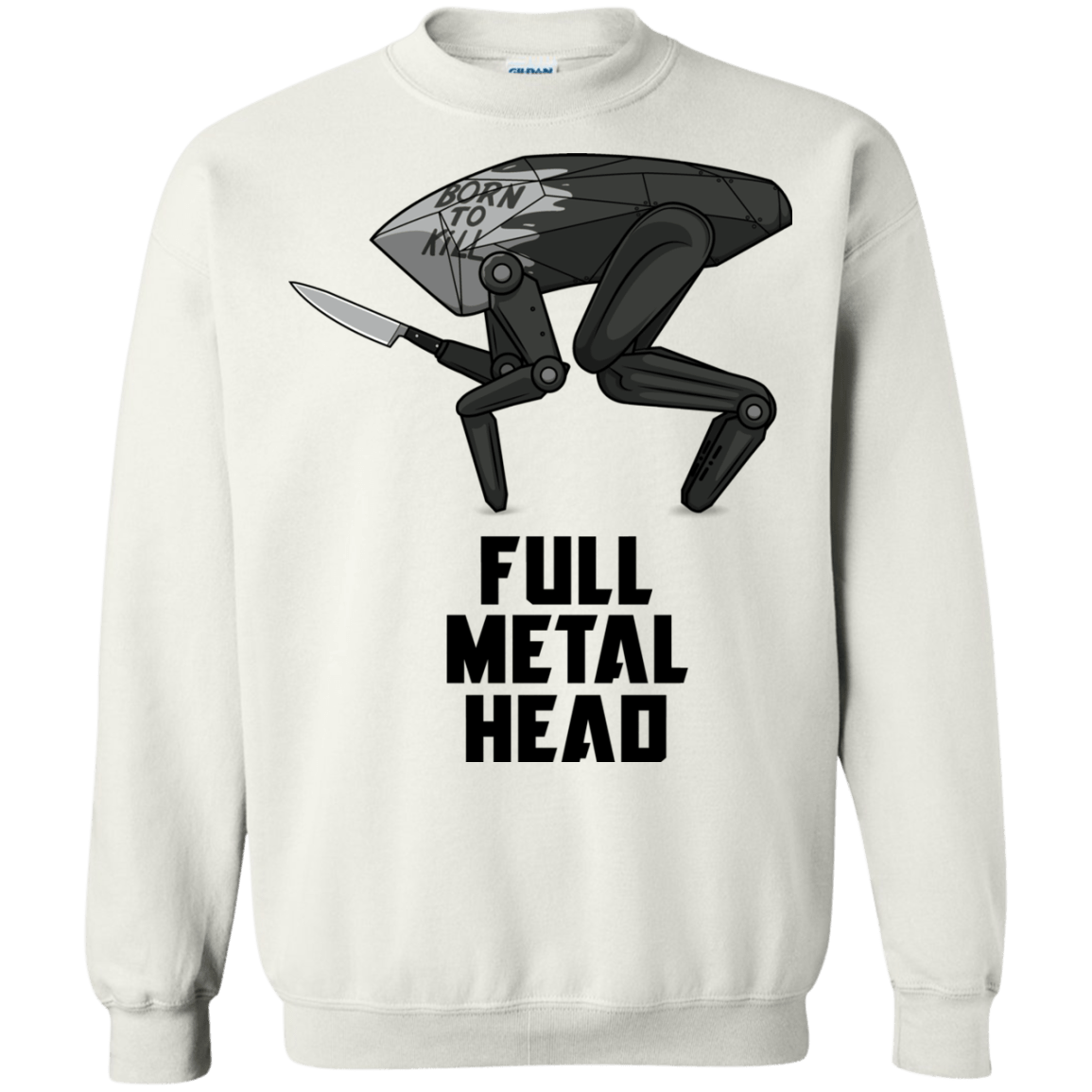 Sweatshirts White / S Full Metal Head Crewneck Sweatshirt