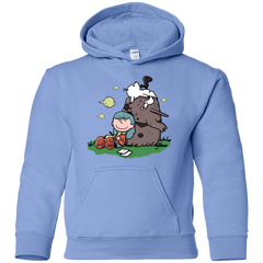 Sweatshirts Carolina Blue / YS Hilda Brown Youth Hoodie