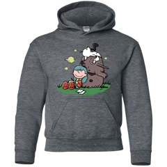 Sweatshirts Dark Heather / YS Hilda Brown Youth Hoodie