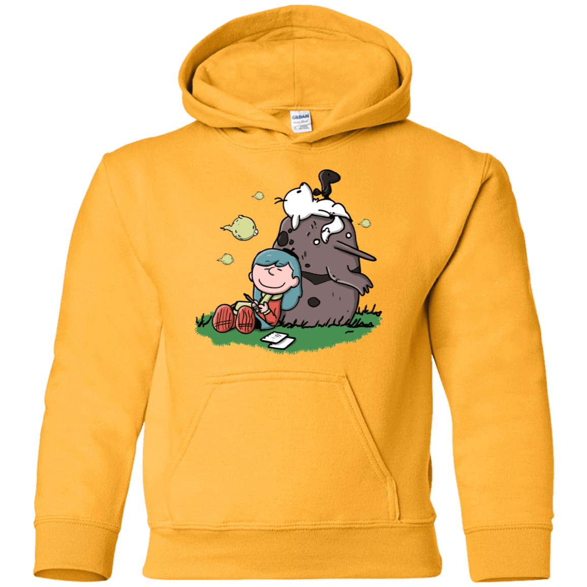 Sweatshirts Gold / YS Hilda Brown Youth Hoodie