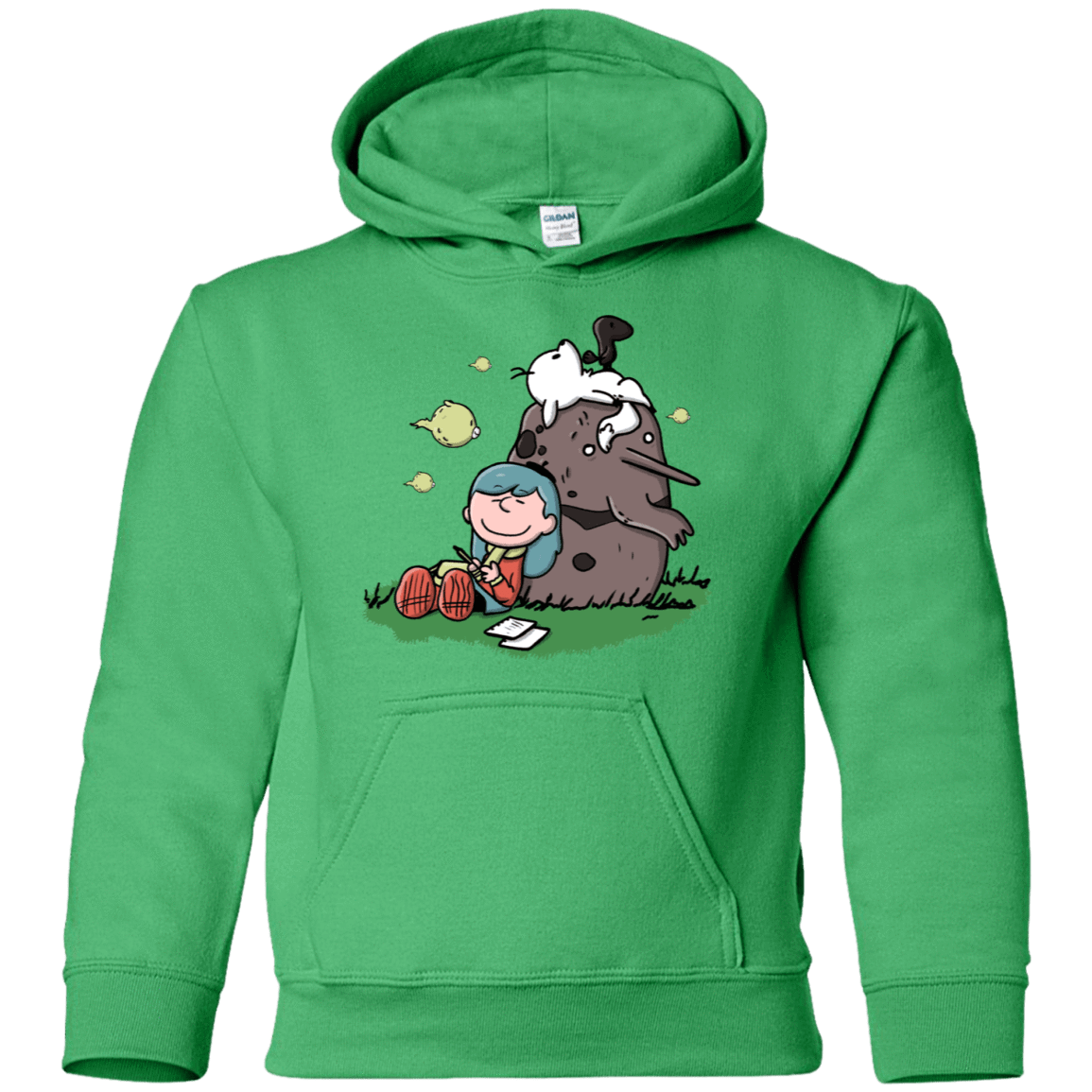 Sweatshirts Irish Green / YS Hilda Brown Youth Hoodie
