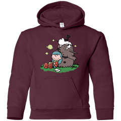 Sweatshirts Maroon / YS Hilda Brown Youth Hoodie