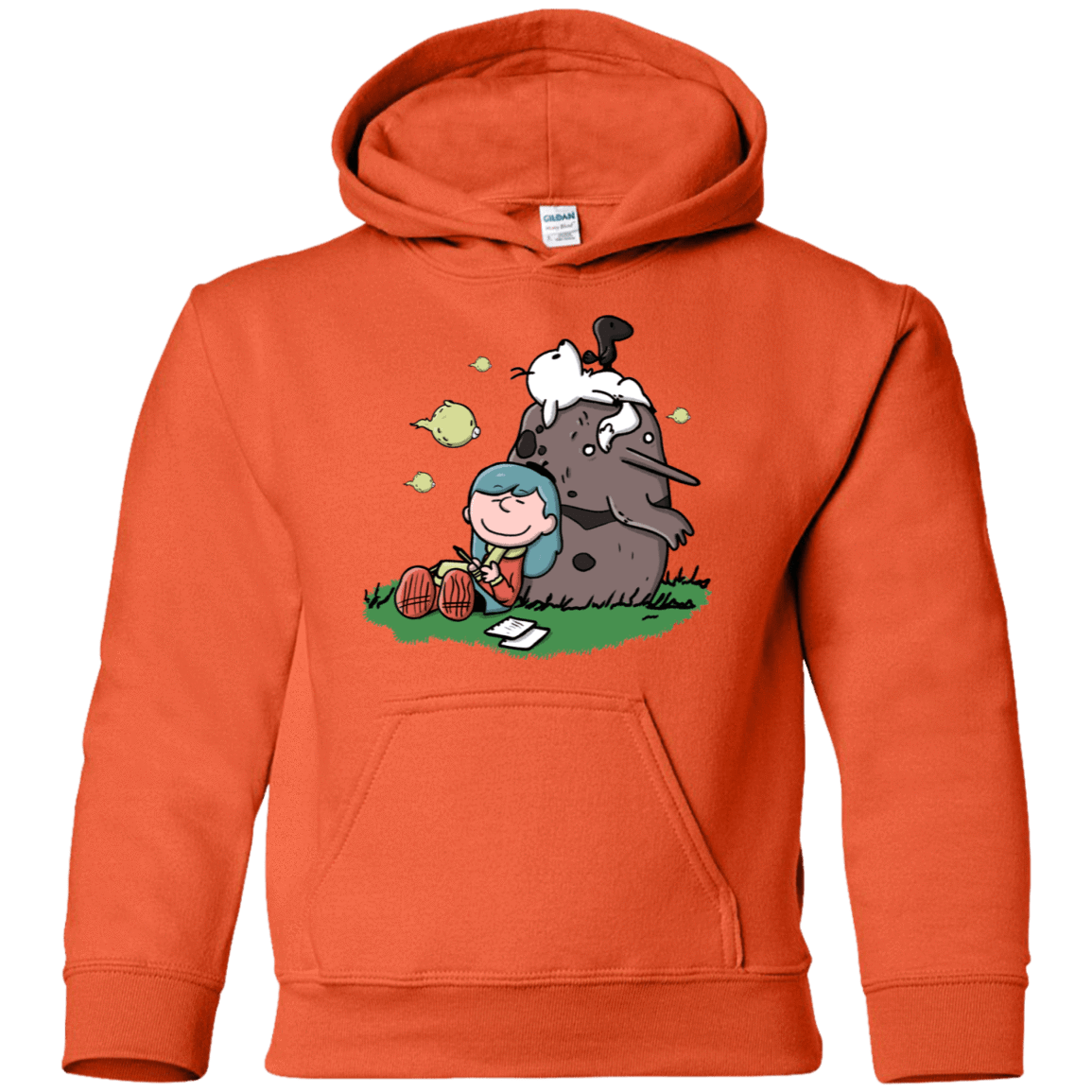 Sweatshirts Orange / YS Hilda Brown Youth Hoodie