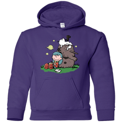 Sweatshirts Purple / YS Hilda Brown Youth Hoodie
