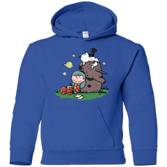 Sweatshirts Royal / YS Hilda Brown Youth Hoodie