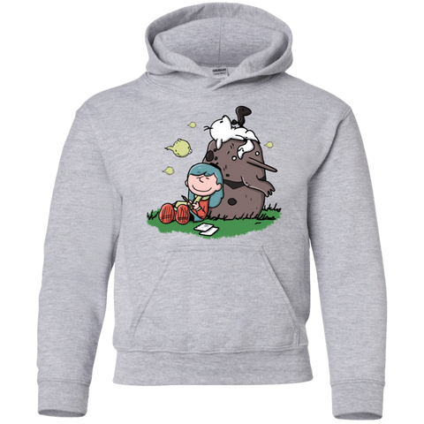 Sweatshirts Sport Grey / YS Hilda Brown Youth Hoodie