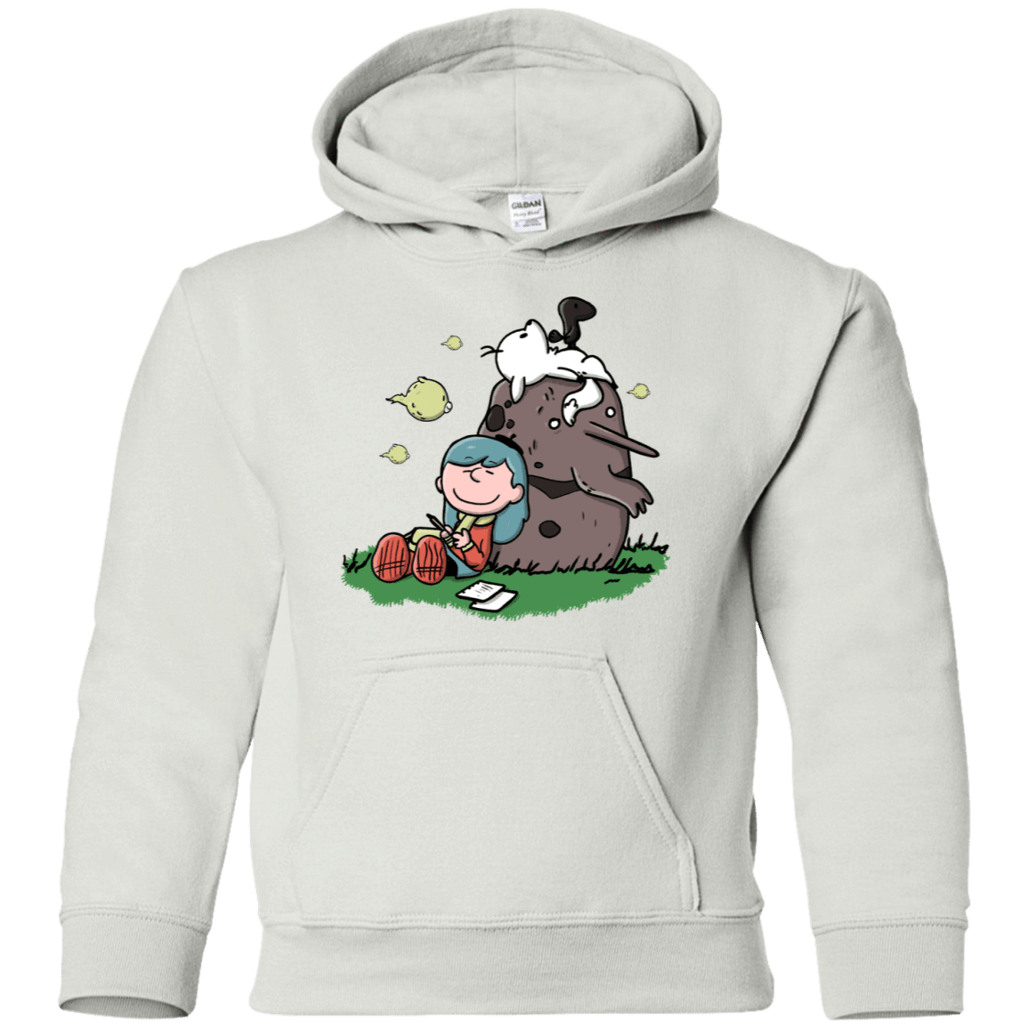 Sweatshirts White / YS Hilda Brown Youth Hoodie