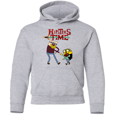 Hipsters Time Youth Hoodie