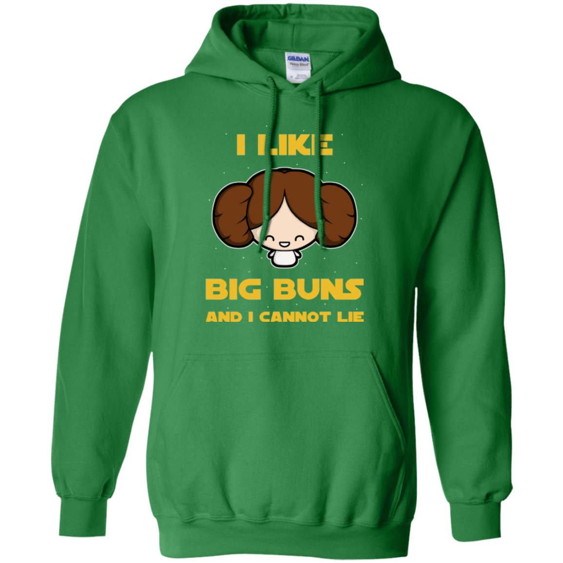 Sweatshirts Irish Green / Small I Like Big Buns Pullover Hoodie