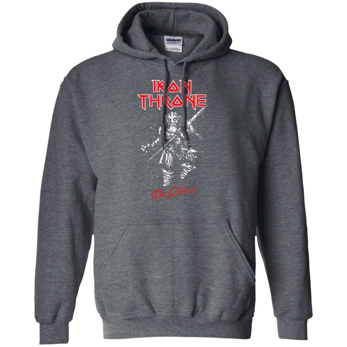 Sweatshirts Dark Heather / Small Iron Throne Pullover Hoodie