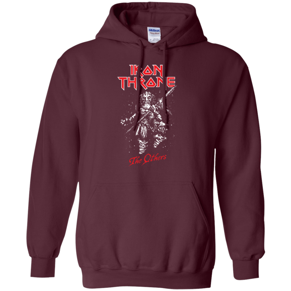 Sweatshirts Maroon / Small Iron Throne Pullover Hoodie