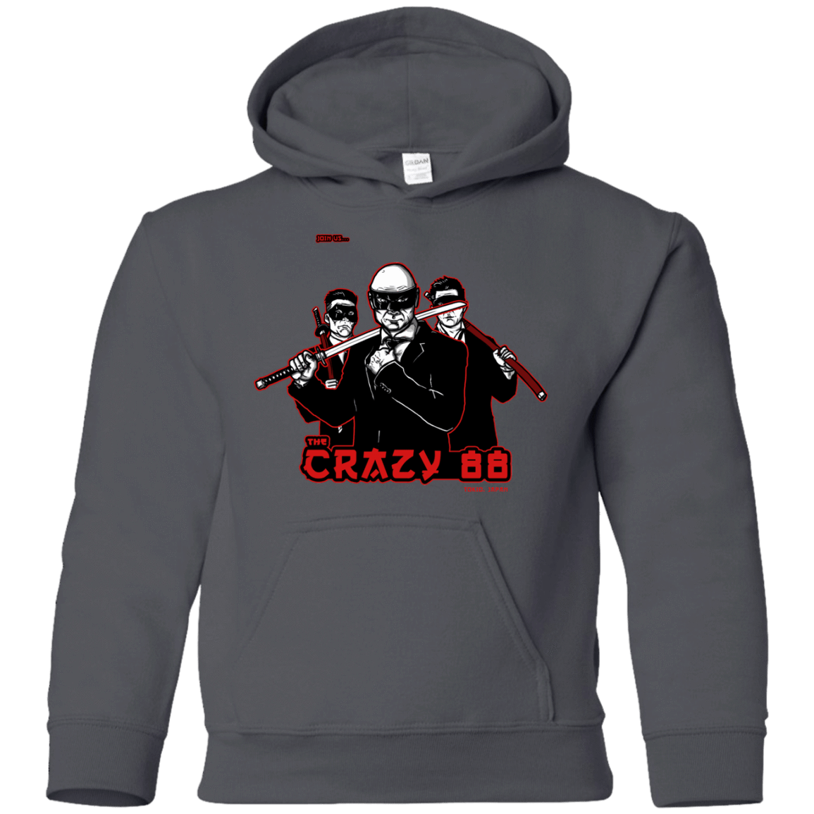 Sweatshirts Charcoal / YS Join The Gang Youth Hoodie