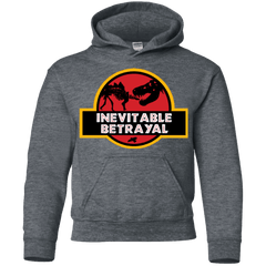 Sweatshirts Dark Heather / YS JURASSIC BETRAYAL Youth Hoodie