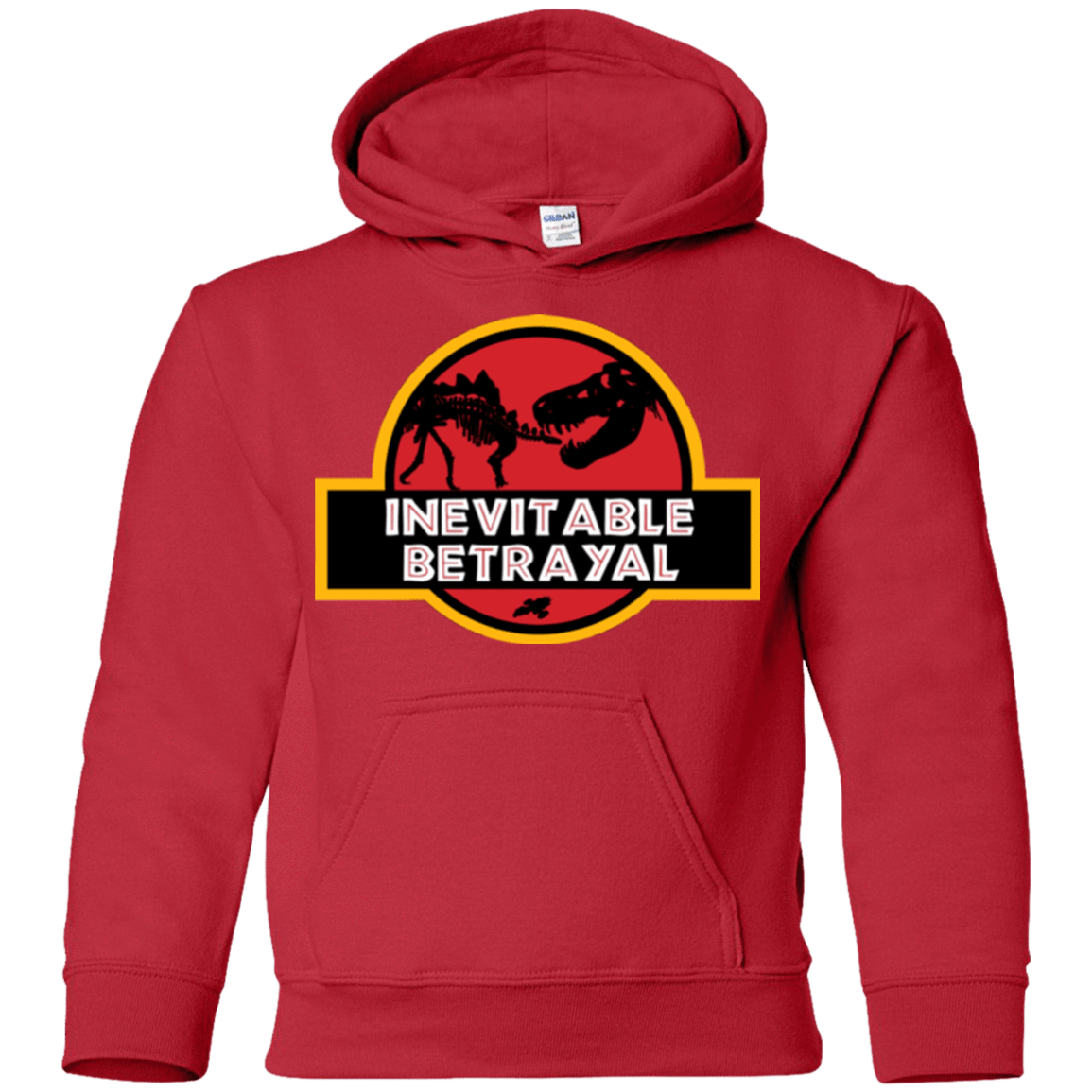 Sweatshirts Red / YS JURASSIC BETRAYAL Youth Hoodie
