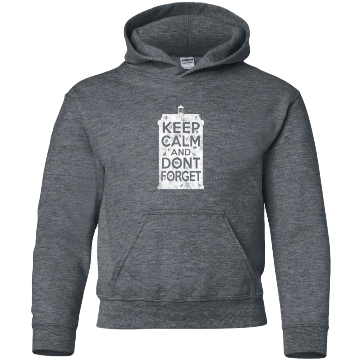 Sweatshirts Dark Heather / YS KCDF Tardis Youth Hoodie