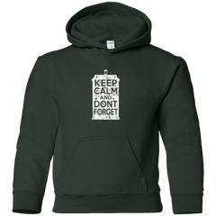 Sweatshirts Forest Green / YS KCDF Tardis Youth Hoodie