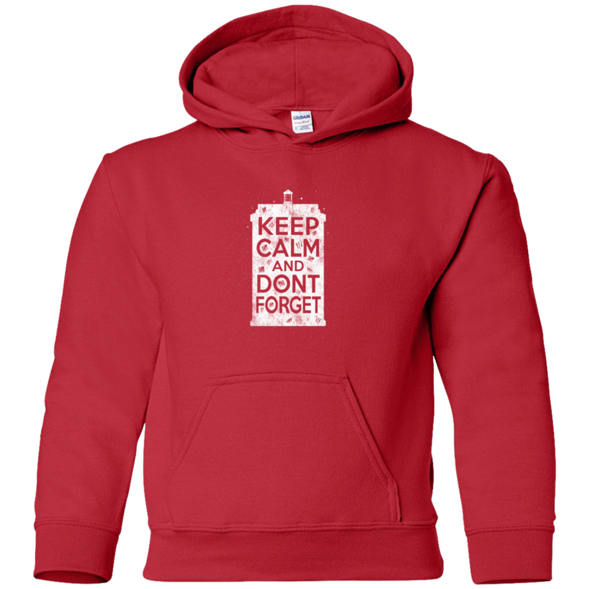 Sweatshirts Red / YS KCDF Tardis Youth Hoodie