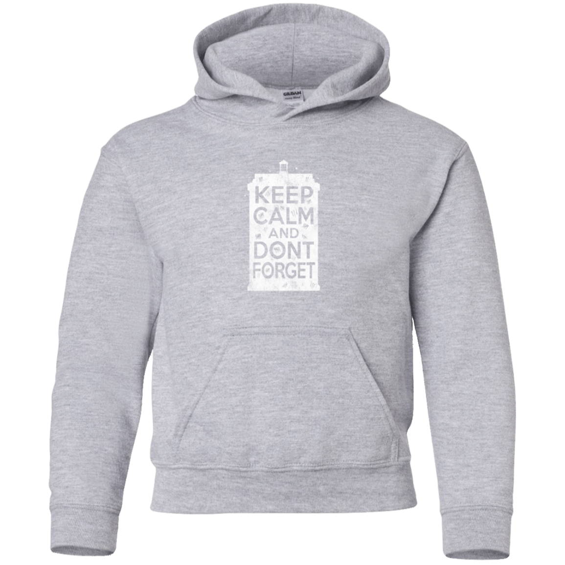 Sweatshirts Sport Grey / YS KCDF Tardis Youth Hoodie