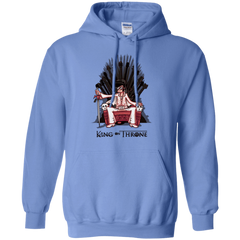 Sweatshirts Carolina Blue / Small King on Throne Pullover Hoodie