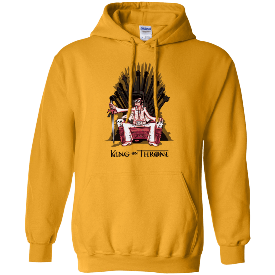 Sweatshirts Gold / Small King on Throne Pullover Hoodie
