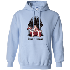 Sweatshirts Light Blue / Small King on Throne Pullover Hoodie