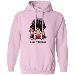 Sweatshirts Light Pink / Small King on Throne Pullover Hoodie