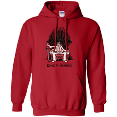 Sweatshirts Red / Small King on Throne Pullover Hoodie