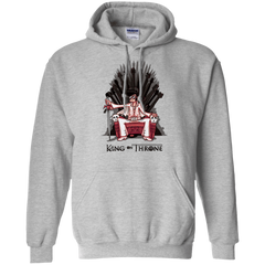 Sweatshirts Sport Grey / Small King on Throne Pullover Hoodie