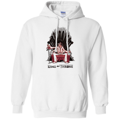 Sweatshirts White / Small King on Throne Pullover Hoodie