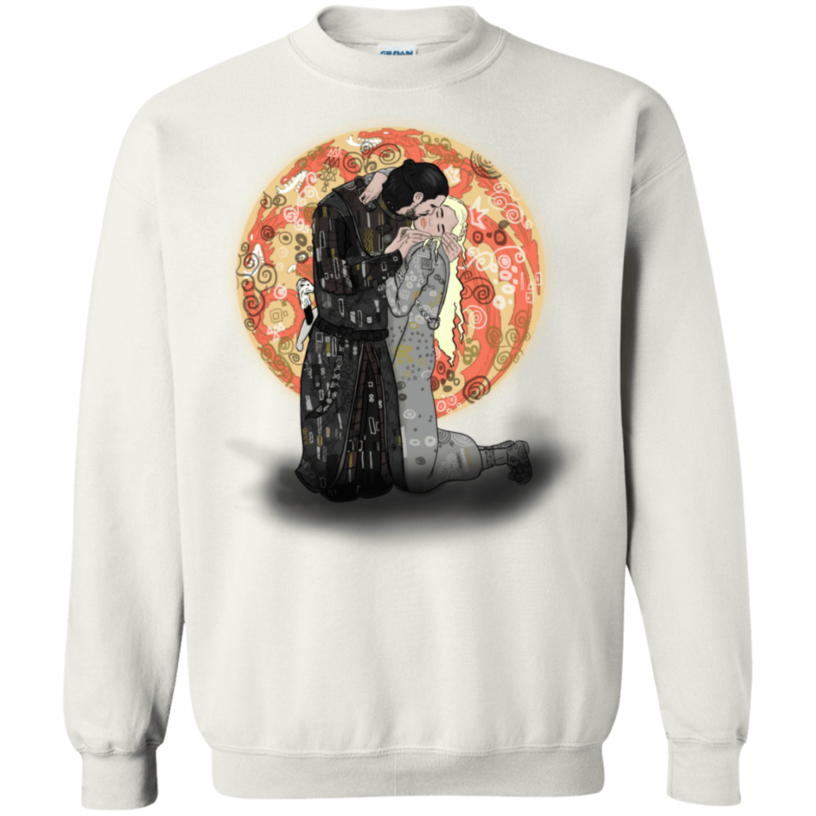 Kiss Jon and Dany Crewneck Sweatshirt