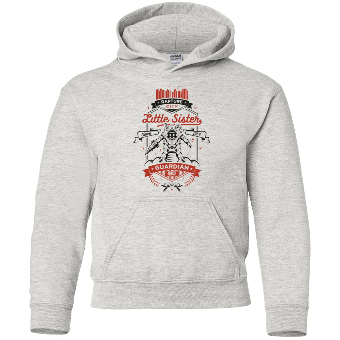 Sweatshirts Ash / YS Little Sister Protector V2 Youth Hoodie