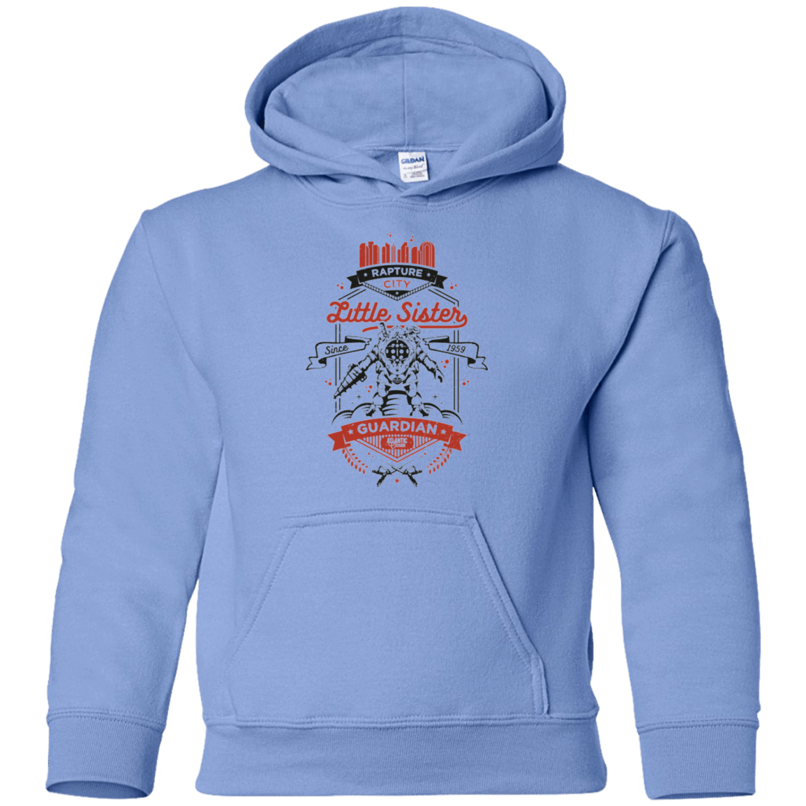 Sweatshirts Carolina Blue / YS Little Sister Protector V2 Youth Hoodie