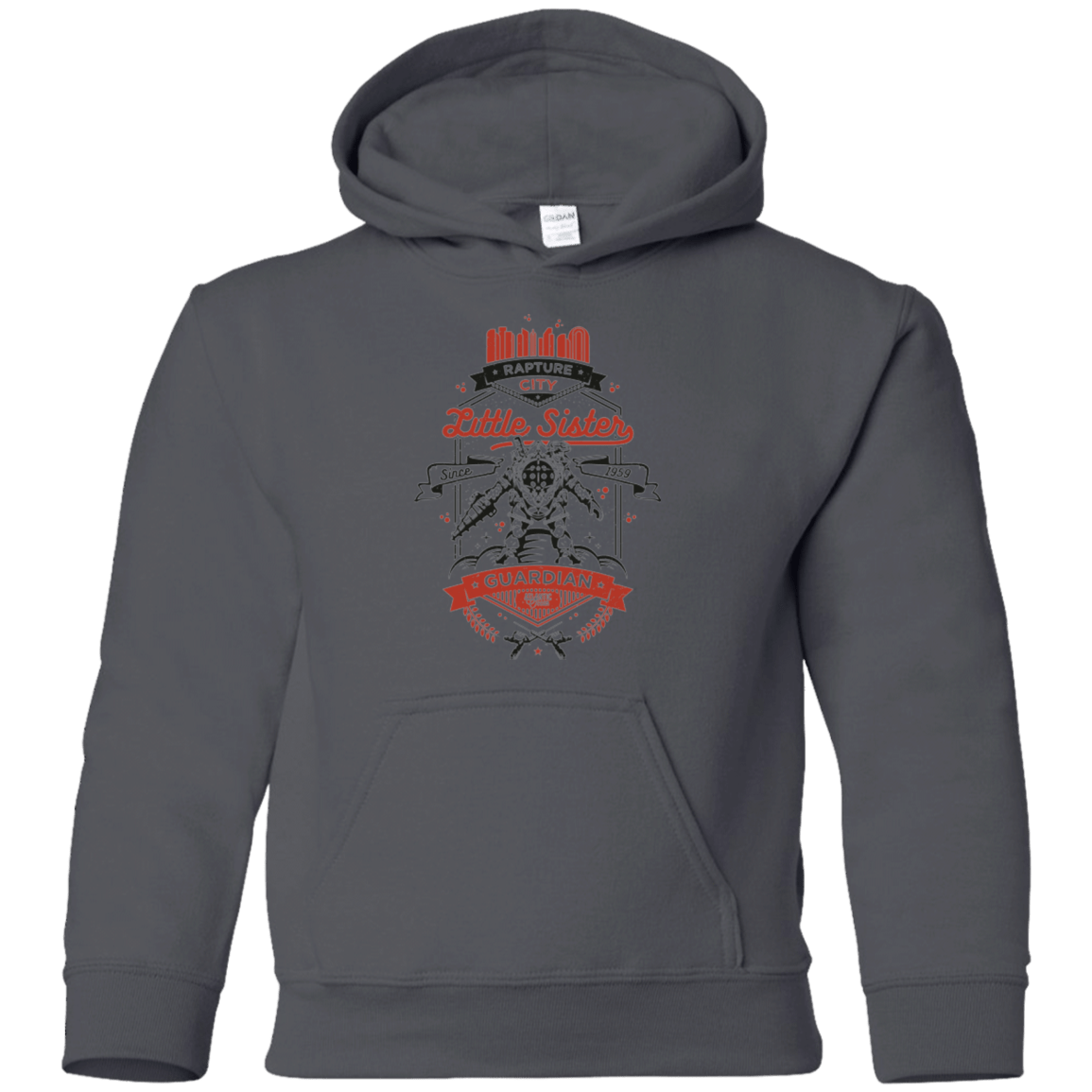 Sweatshirts Charcoal / YS Little Sister Protector V2 Youth Hoodie
